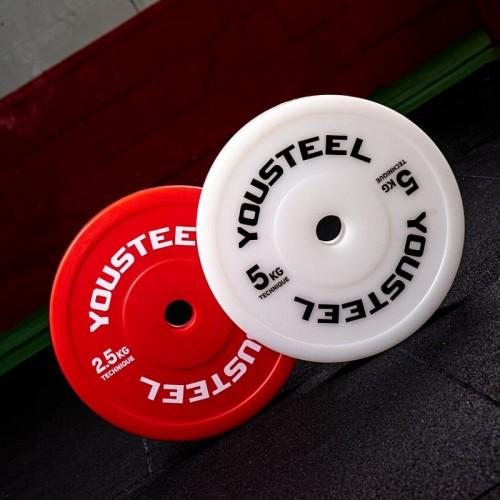 Диски технические для тяжелой атлетики YouSteel 2,5 - 5 кг пластиковые