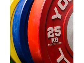 Диски для штанги соревновательные YouSteel 10 - 25 кг цветные