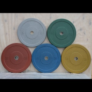 Бамперные диски для штанги Bumper Plates 1-50 кг цветные