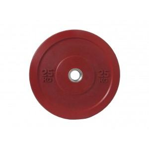 Диск бамперный для штанги 25кг красный