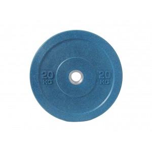 Диск бамперный для штанги 20кг синий