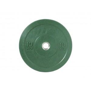 Диск бамперный для штанги 10кг зеленый