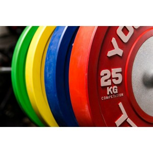 Диск YouSteel для штанги соревновательный каучуковый 10 - 25 кг цветные