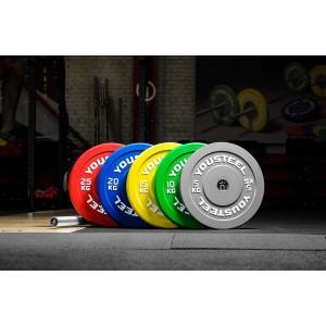 Диск YouSteel для штанги каучуковые бамперные 5 - 25 кг цветные