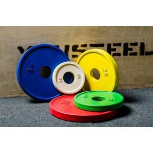 Диск YouSteel для штанги малые каучуковые 0,25 - 2,5кг цветные