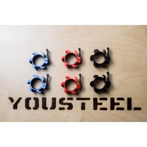 Замки алюминиевые на штангу для кроссфита YouSteel