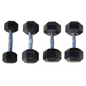 Гексагональные гантели  ЗлатГриф: 12,5кг - 30 кг